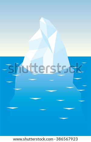 iceberg in the sea in clear weather - stock vector