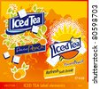 Iced Tea label elements - stock vector