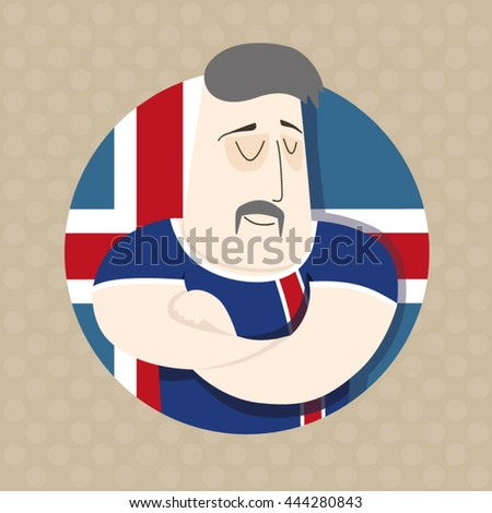 Icelandic football player  - stock vector