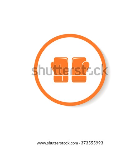 Icon boxing gloves. - stock vector