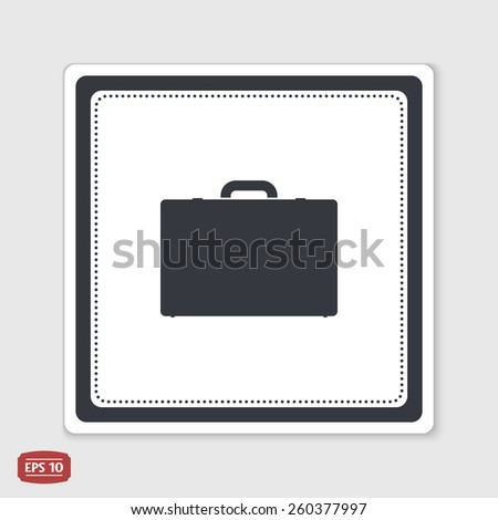 Icon briefcase. Flat design style. Made in vector.  - stock vector