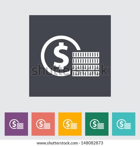Icon coins. Vector illustration. - stock vector