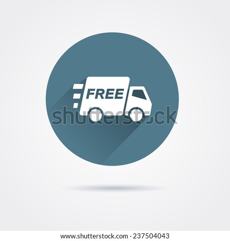 Icon delivery truck - stock vector
