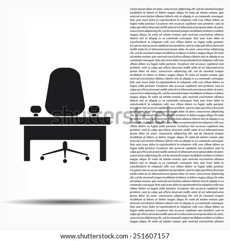 icon, desk and chair - stock vector