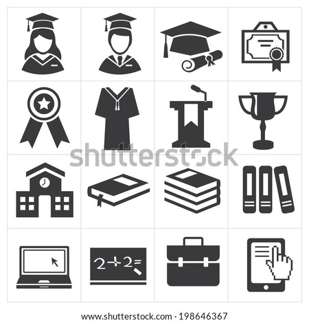 icon education  - stock vector
