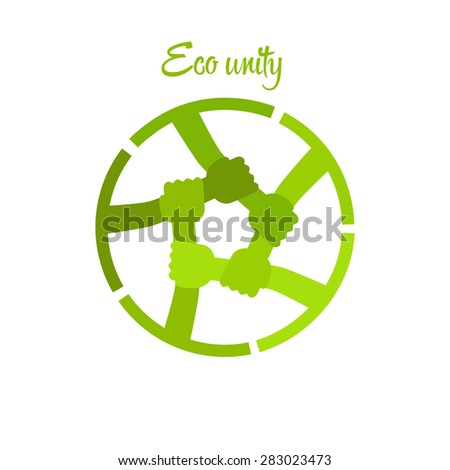icon, environment protection unity - stock vector