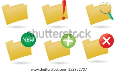 icon folder - stock vector