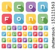 Icon font and numbers, Vector illustration. - stock vector