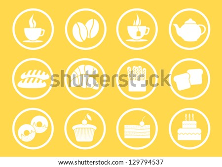 Icon for bakery coffee and tea - stock vector