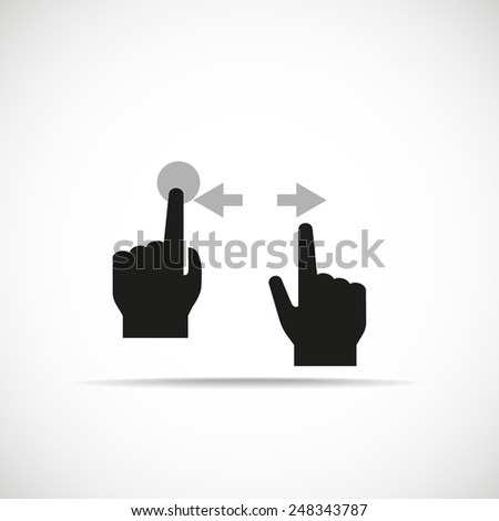icon hand gestures - stock vector