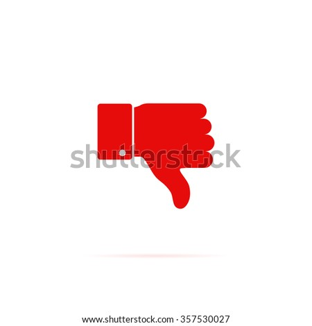 Icon hand with thumb down. - stock vector