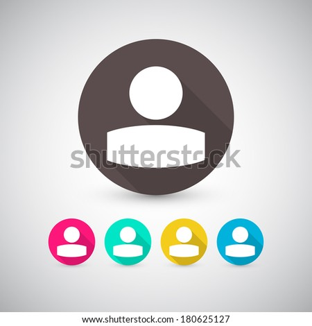 Icon. Icons. Icon set. Icons set. Icons with long shadow - stock vector