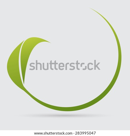 icon leaf - stock vector