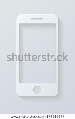 icon mobile phone. vector eps10 illustration, background. - stock vector