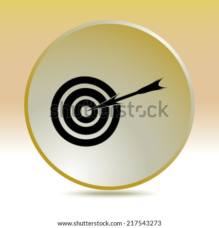 icon of aim - stock vector