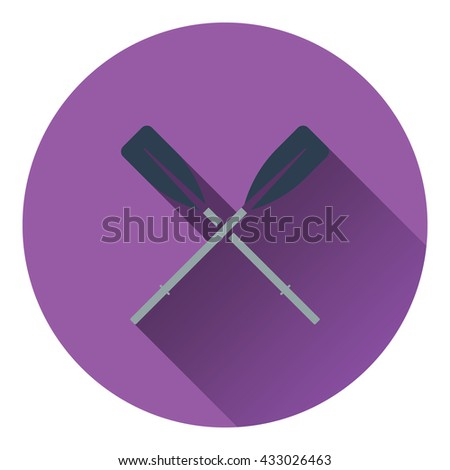 Icon of  boat oars. Flat design. Vector illustration. - stock vector
