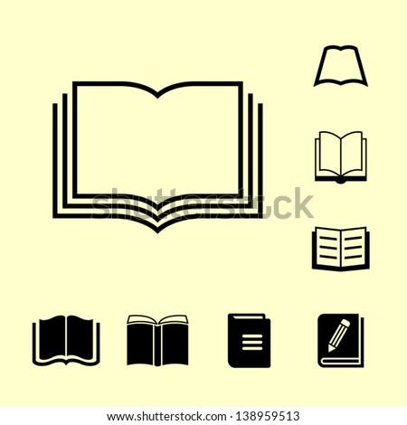 Icon of book. - stock vector