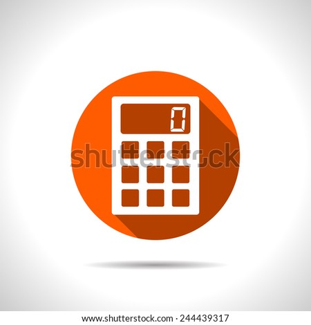 icon of calculator - stock vector
