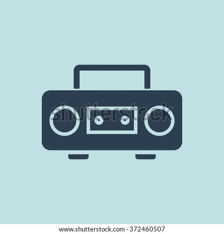 Icon of Cassette Player. EPS-10. - stock vector