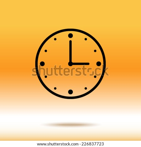 icon of clock - stock vector