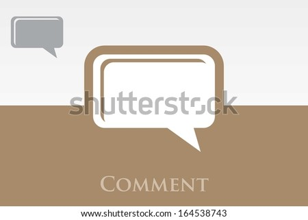 Icon of Comment. EPS-10  - stock vector