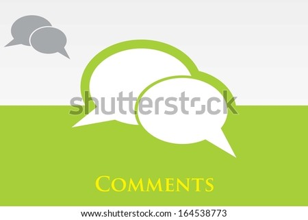 Icon of Comments. EPS-10 - stock vector