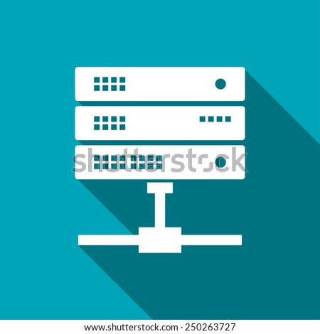 icon of computer server - stock vector