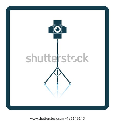Icon of curtain light. Shadow reflection design. Vector illustration. - stock vector