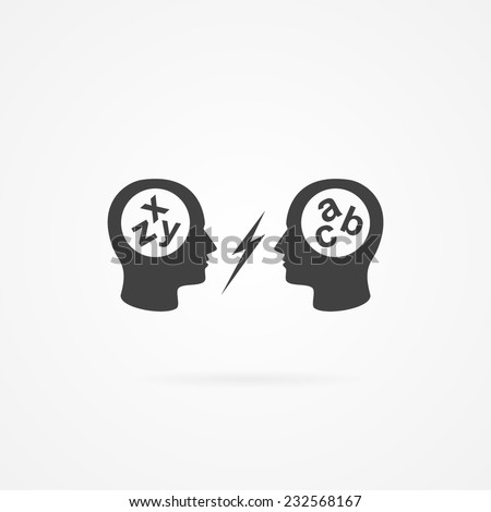 Icon of dispute. - stock vector