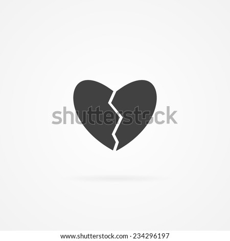 Icon of divorce. - stock vector