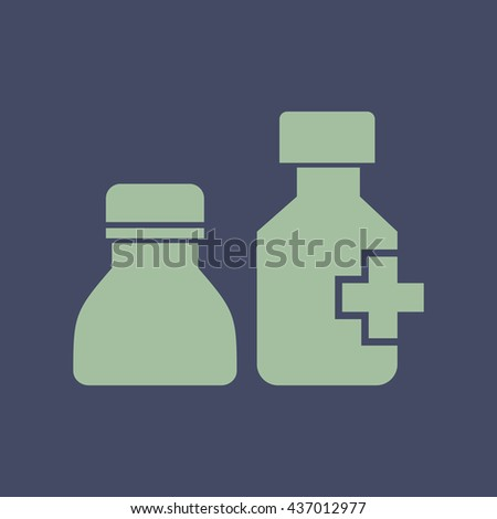 Icon of Drug Bottle. Eps-10. - stock vector