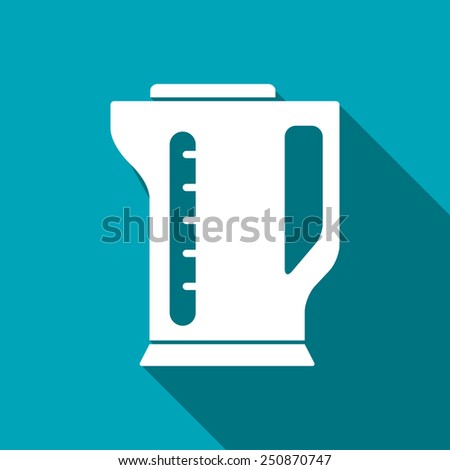 icon of electric kettle - stock vector