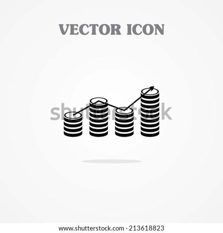icon of financial graph  - stock vector