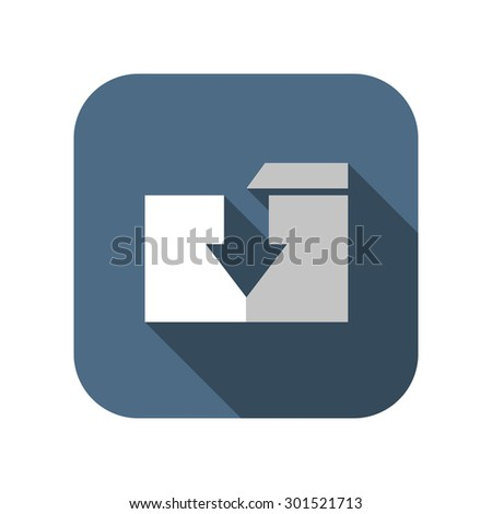 icon of folder download - stock vector