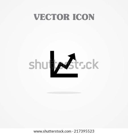 Icon of Graph - stock vector