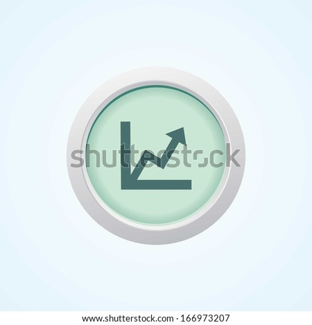 Icon of Graph on Button. Eps-10 - stock vector