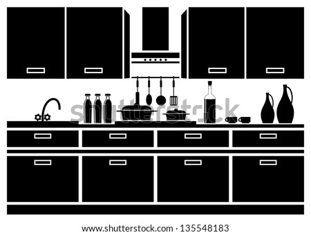 Kitchen Silhouettes Stock Photos Images Pictures Shutterstock