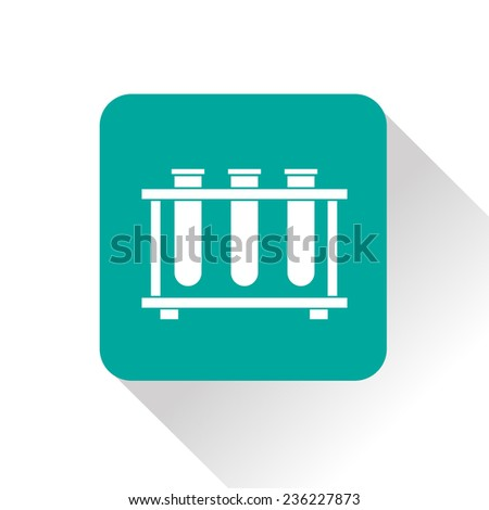 icon of laboratory flasks - stock vector