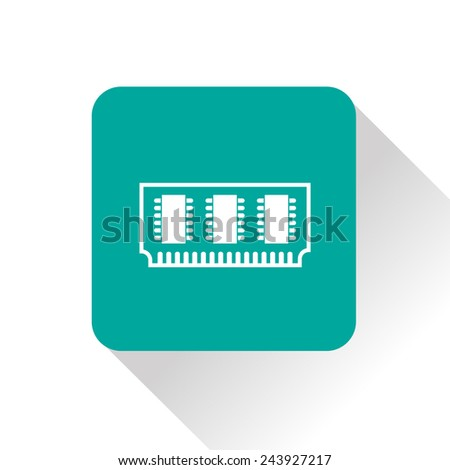 icon of memory chip - stock vector
