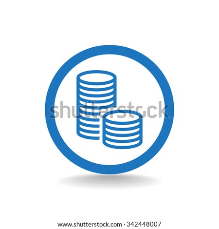 icon of money vector icon - stock vector