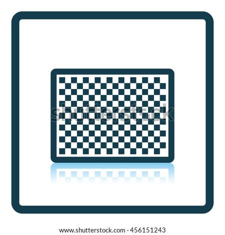 Icon of photo camera sensor. Shadow reflection design. Vector illustration. - stock vector