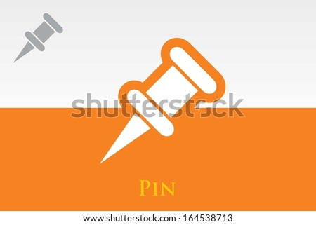 Icon of Pin. EPS-10 - stock vector