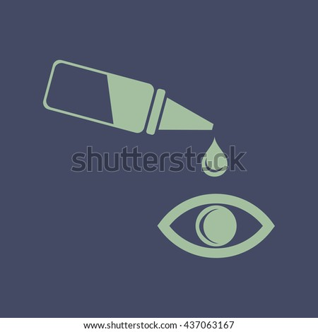 Icon of Pipette and eye. Eps-10. - stock vector