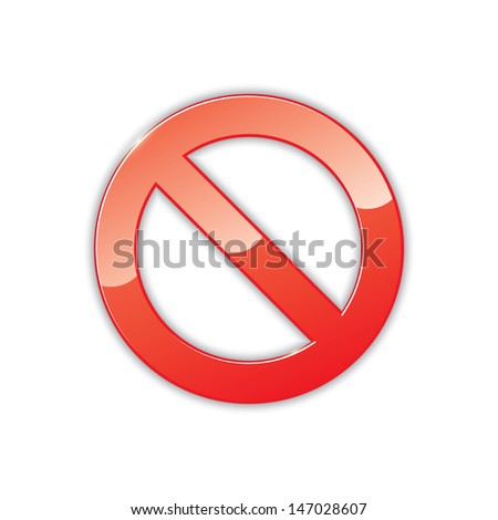 icon of prohibition sign. vector. eps10 - stock vector