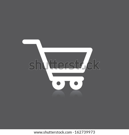 icon of shopping cart. vector illustration. eps8 - stock vector