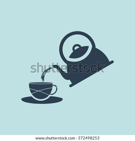 Icon of Tea Pot or Kettle. EPS-10. - stock vector