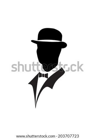 icon of the gentleman - stock vector