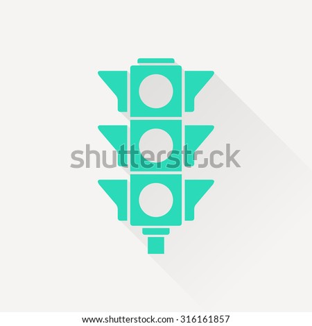 icon of traffic light - stock vector
