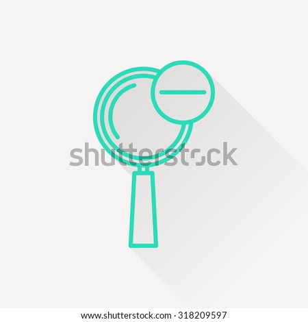 icon of zoom out magnifying glass - stock vector