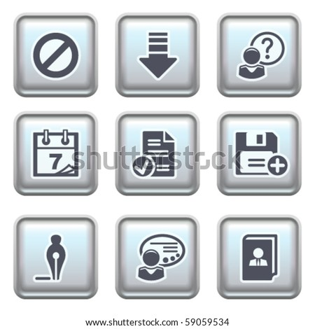 Icon on metal button 2 - stock vector